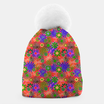 Peach and Purple Daisies Beanie thumbnail image
