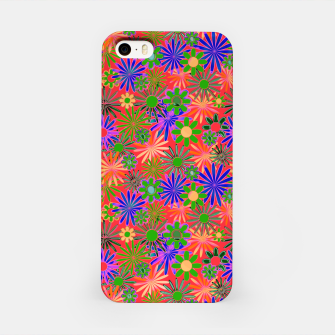 Miniaturka Peach and Purple Daisies iPhone Case, Live Heroes