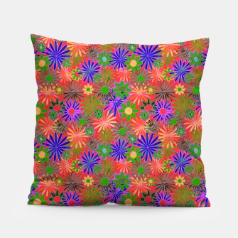 Peach and Purple Daisies Pillow thumbnail image