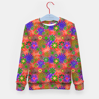 Peach and Purple Daisies Kid's sweater thumbnail image