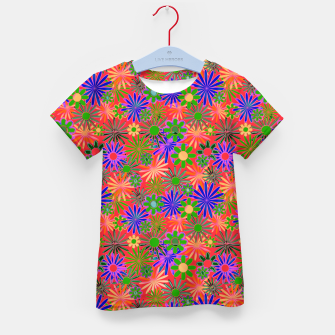 Peach and Purple Daisies Kid's t-shirt thumbnail image