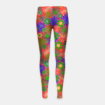 Peach and Purple Daisies Girl's leggings thumbnail image