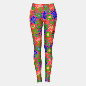Peach and Purple Daisies Leggings thumbnail image