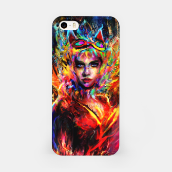 Miniatur catwoman iPhone Case, Live Heroes