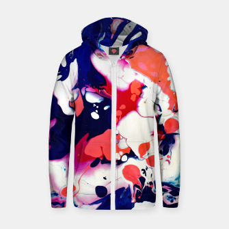 Thumbnail image of Acrylic Design Zip up hoodie, Live Heroes