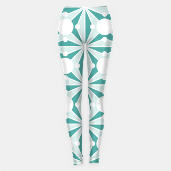 Miniature de image de Abstract geometric pattern - green and white. Leggings, Live Heroes