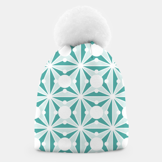 Miniatur Abstract geometric pattern - green and white. Beanie, Live Heroes