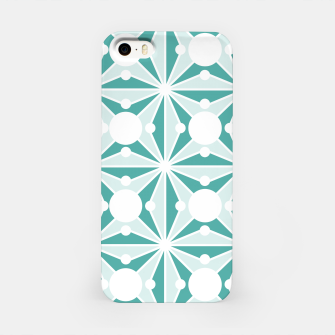Miniaturka Abstract geometric pattern - green and white. iPhone Case, Live Heroes
