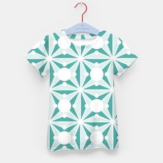 Miniatur Abstract geometric pattern - green and white. Kid's t-shirt, Live Heroes