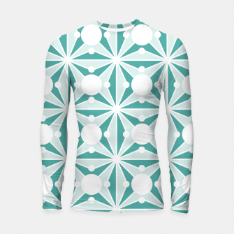 Miniatur Abstract geometric pattern - green and white. Longsleeve rashguard , Live Heroes