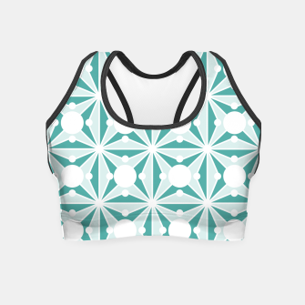Miniatur Abstract geometric pattern - green and white. Crop Top, Live Heroes