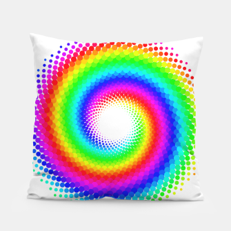 Thumbnail image of Rainbow Spiral Pillow, Live Heroes
