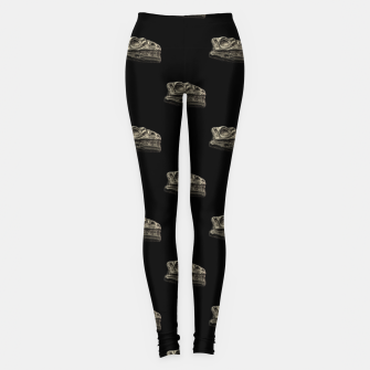 Thumbnail image of Dinosaur Skeleton Head Motif Pattern Leggings, Live Heroes