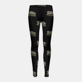 Thumbnail image of Dinosaur Skeleton Head Motif Pattern Girl's leggings, Live Heroes