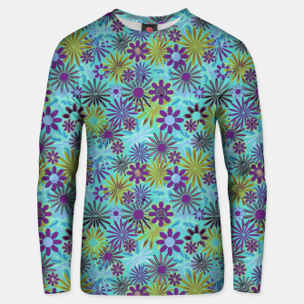 Thumbnail image of Blue and Purple Daisies Unisex sweater, Live Heroes