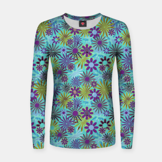 Blue and Purple Daisies Women sweater thumbnail image