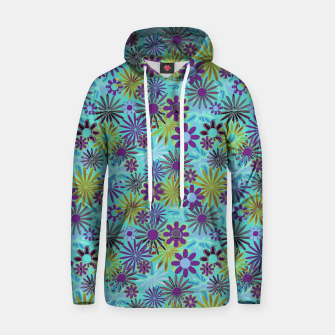 Blue and Purple Daisies Hoodie thumbnail image