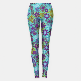 Miniature de image de Blue and Purple Daisies Leggings, Live Heroes