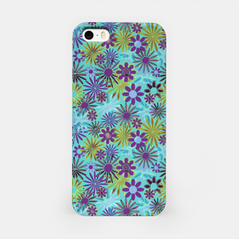 Miniaturka Blue and Purple Daisies iPhone Case, Live Heroes