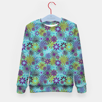 Imagen en miniatura de Blue and Purple Daisies Kid's sweater, Live Heroes