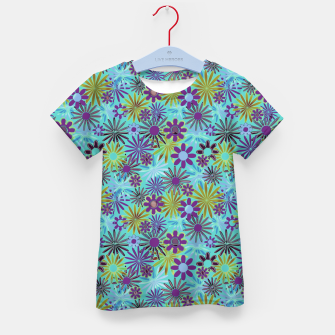 Miniatur Blue and Purple Daisies Kid's t-shirt, Live Heroes