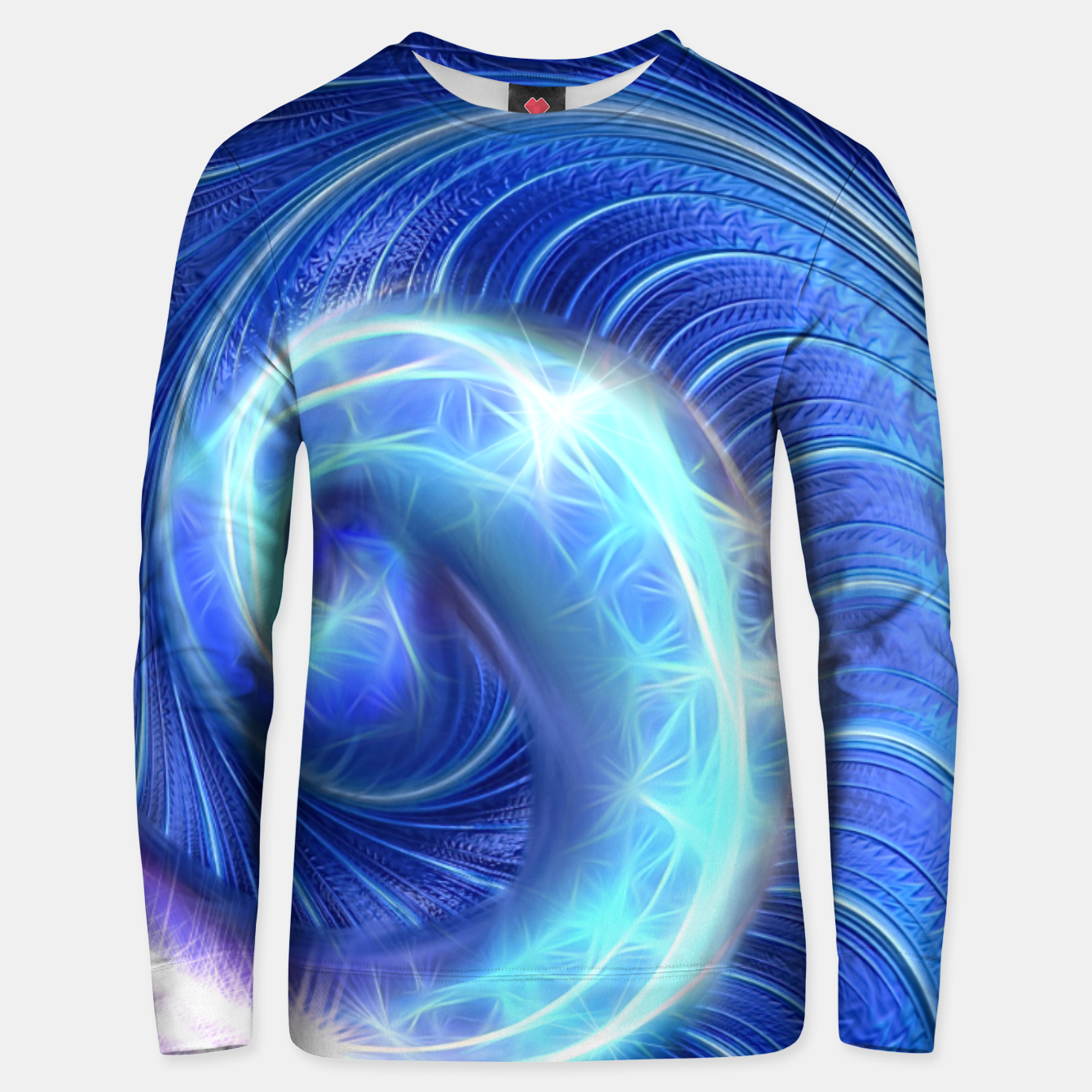 Image of Blue Sparkle Fractal Wave Unisex sweater - Live Heroes