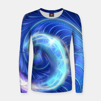 Blue Sparkle Fractal Wave Women sweater thumbnail image