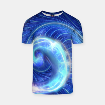 Blue Sparkle Fractal Wave T-shirt thumbnail image