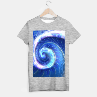 Blue Sparkle Fractal Wave T-shirt regular thumbnail image