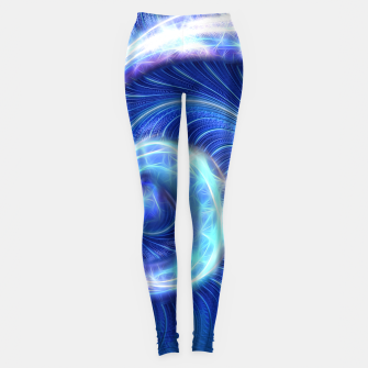 Miniature de image de Blue Sparkle Fractal Wave Leggings, Live Heroes