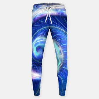 Blue Sparkle Fractal Wave Sweatpants thumbnail image