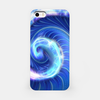Miniaturka Blue Sparkle Fractal Wave iPhone Case, Live Heroes