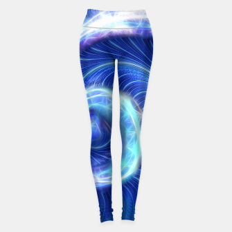Blue Sparkle Fractal Wave Leggings thumbnail image