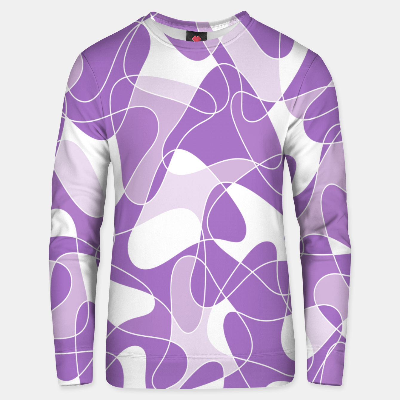 Image of Abstract pattern - purple. Unisex sweater - Live Heroes