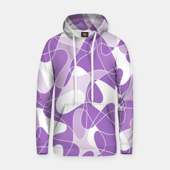 Abstract pattern - purple. Hoodie thumbnail image