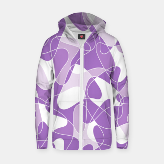 Abstract pattern - purple. Zip up hoodie thumbnail image