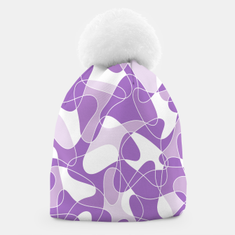 Abstract pattern - purple. Beanie thumbnail image