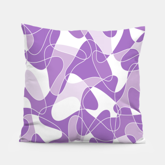 Abstract pattern - purple. Pillow thumbnail image