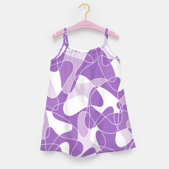 Abstract pattern - purple. Girl's dress thumbnail image