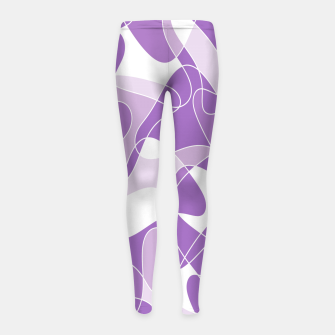Abstract pattern - purple. Girl's leggings thumbnail image