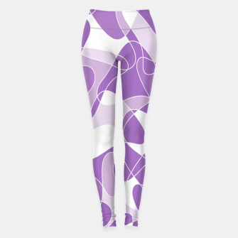 Abstract pattern - purple. Leggings thumbnail image