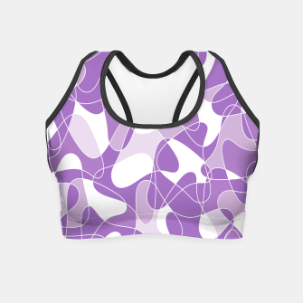 Abstract pattern - purple. Crop Top thumbnail image