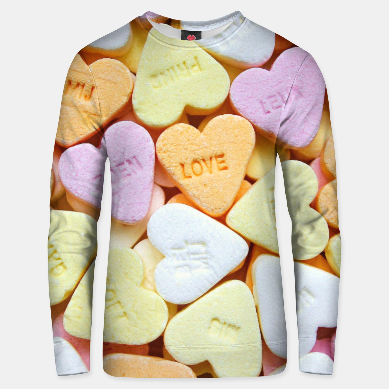 Image of Love Candy Unisex sweater - Live Heroes