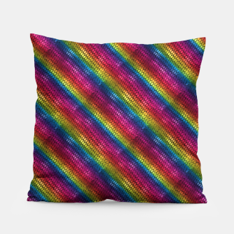 Thumbnail image of Rainbow Dragon Scales Pillow, Live Heroes