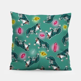 Miniatur Green tiger Pillow, Live Heroes