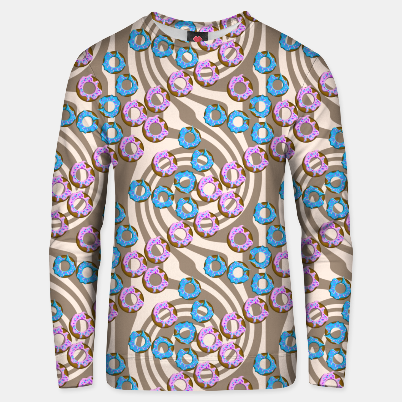 Image of Donuts Pattern Unisex sweater - Live Heroes
