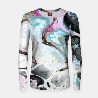 Thumbnail image of Colorful Marble Design Frauen sweatshirt, Live Heroes