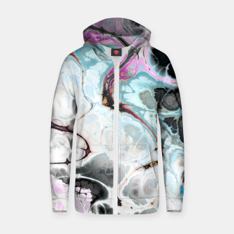 Thumbnail image of Colorful Marble Design Reißverschluss kapuzenpullover, Live Heroes