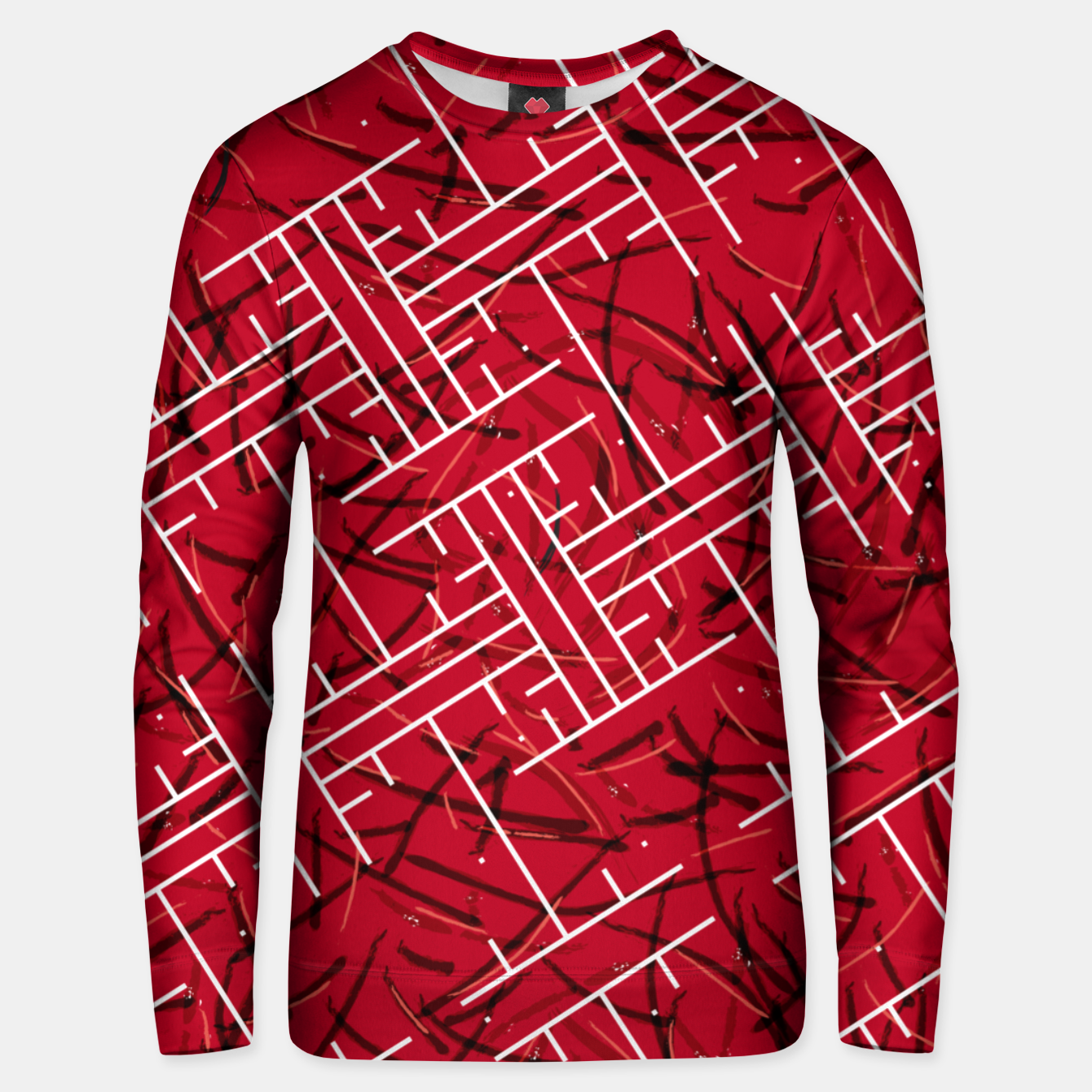Image of White Maze Fiery Edition Unisex sweater - Live Heroes