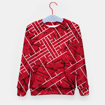 Thumbnail image of White Maze Fiery Edition Kid's sweater, Live Heroes